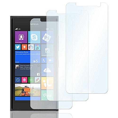 Eximmobile 3X Schutzfolien für Nokia Lumia 630/635 Folie | Bildschirmschutzfolie | Bildschirmfolie Schutzfolie | selbstklebend | transparent | blasenfrei | kein Glas | Flexible Folien