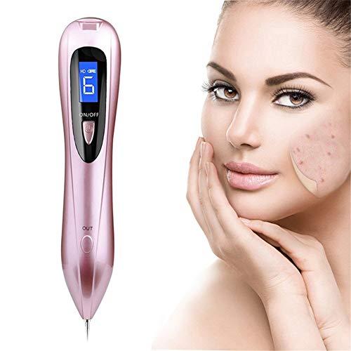 LCD Plasma Laser Pen Soins De La Peau Anti-Taches Mole Remover Visage Rousseur Mole Tattoo Removal Machine Tag Verrues Pen,Rose