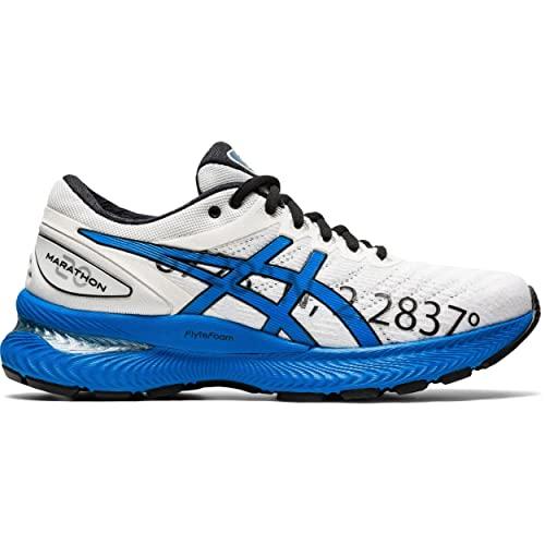 ASICS Gel-Nimbus 22, Zapatillas Deportivas Mujer, White/Electric Blue, 39.5 EU