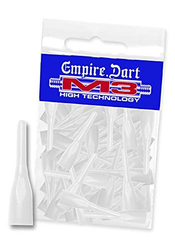 Empire Dart Softdartspitzen - M3 - kurz - Weiss - 100 Stück