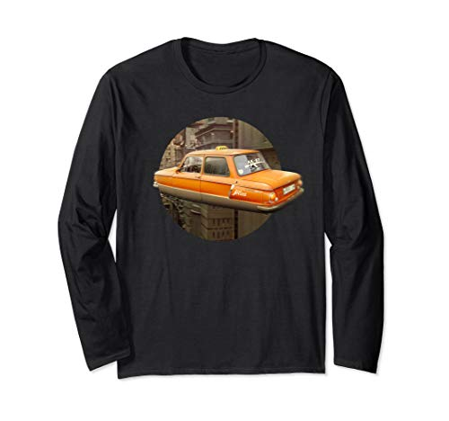 Fly car taxi / funny auto for Men's and women Graphic Langarmshirt