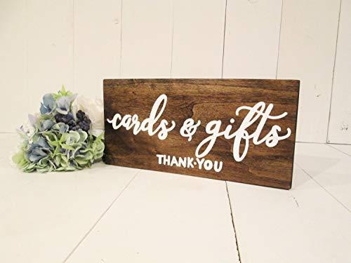 CELYCASY Kaarten en geschenken hout teken huwelijksgeschenken teken trouwkaarten teken rustieke bruiloft decor tafelblad teken geschenktafel teken hout trouwbord