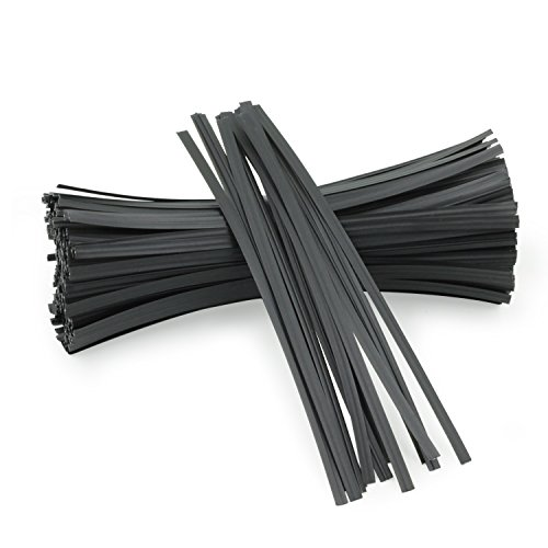 Easytle 5' Plastic Black Twist Ties/Twist Tie/Cable Ties/Cable Tie 100 Pcs