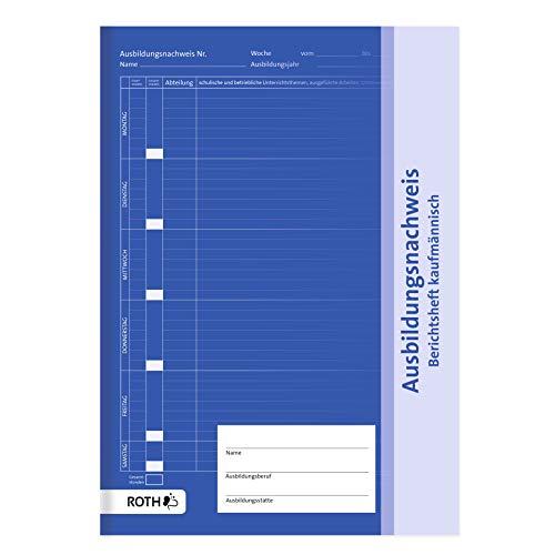 ROTH Ausbildungsnachweis kaufmännisch A4, 1 Woche pro Seite - Berichtsheft täglich