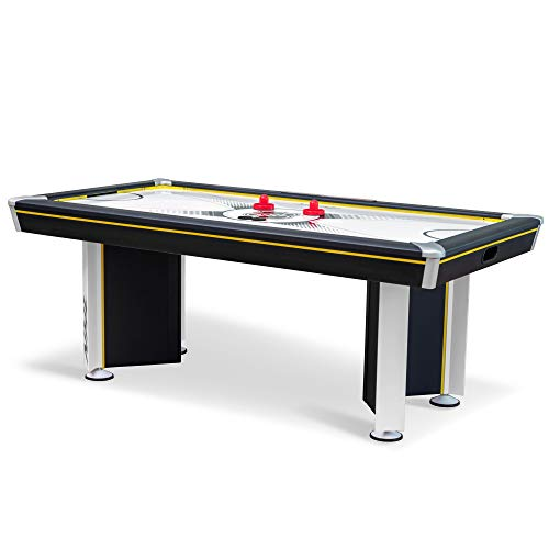 EastPoint Sports 80' Triple-Deke Hover Hockey Table for Indoor Play, Arcade Game with LED Scoring and Stadium Sounds, Black (1-1-34005-DS)