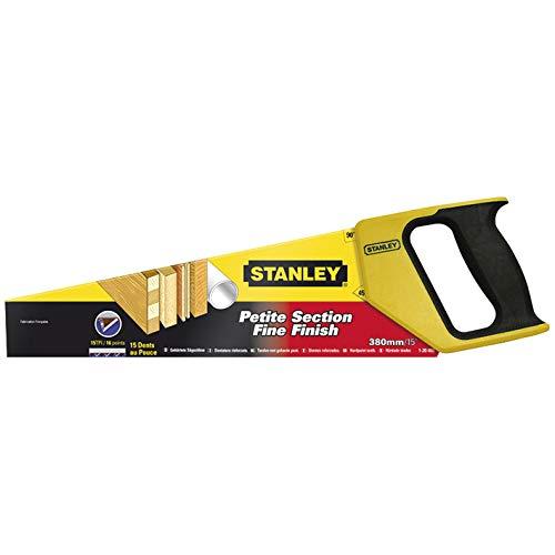 Stanley Universal Handsäge HP (380 mm Länge, 15 Zähne/Inch, 45°/90°-Handgriffanschlag, DynaGrip) 1-20-002