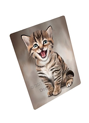 Doggie of the Day Bengal Cat Art Portrait Print Woven Throw Sherpa Plush Fleece Blanket D012 (50x60 Sherpa)
