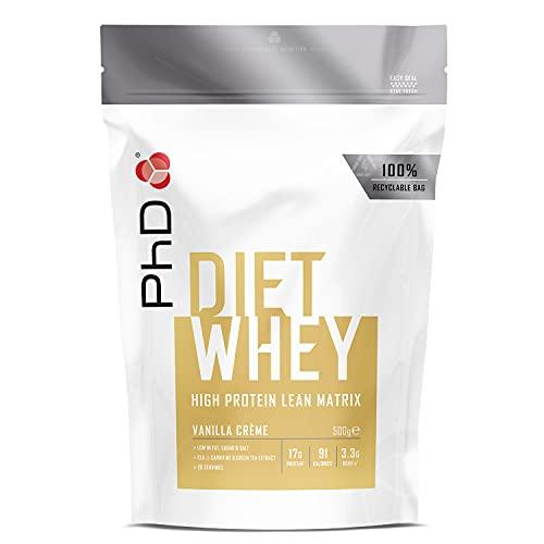 PhD Diet Whey, Vanilla Crème, 500 g