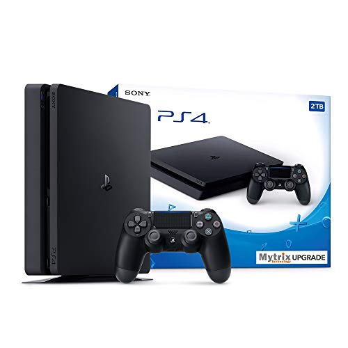 Mytrix Playstation 4 Slim 2TB Console with DualShock 4 Wireless Controller and HDMI Bundle, Playstation Enhanced