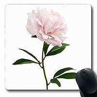 マウスパッドヘッドピンク牡丹誕生日ホワイト自然長方形7.9 X 9.5インチ長方形ゲームマウスパッド滑り止めラバーマット