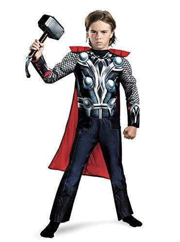 Disfraz - disfraz - niños - thor - músculos - carnaval - halloween - disfraz - cosplay excelente calidad - talla s - 3/4 años cosplay