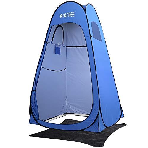 G4Free - Tienda de ducha con privacidad, portátil, para exteriores, para camping, inodoro, refugio con bolsa de transporte (azul)