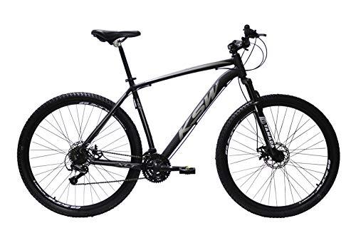 Bicicleta Aro 29 Ksw Alumínio 24 Marchas Freio A Disco (Preto/Prata, 17)