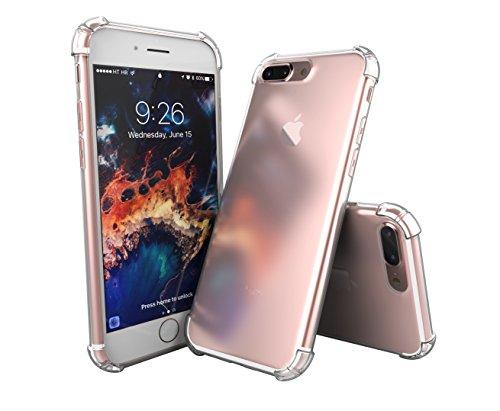 SDTEK iPhone 7 Plus [Anti Scossa] Custodia Cover Case Bumper Caso Trasparente Crystal Clear Silicone Gel