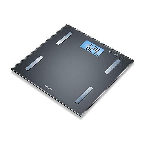 Beurer BF 180 Diagnosewaage, Körperfettwaage mit BMI-Berechnung und großer LCD-Anzeige, schwarz