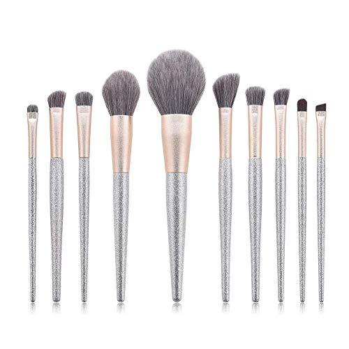 Brosse de maquillage Set Pinceaux de maquillage Pro Set 10pcs Brosse à sourcils Eyeliner Ombre à Paupières Portable Cosmétiques Set Brosses