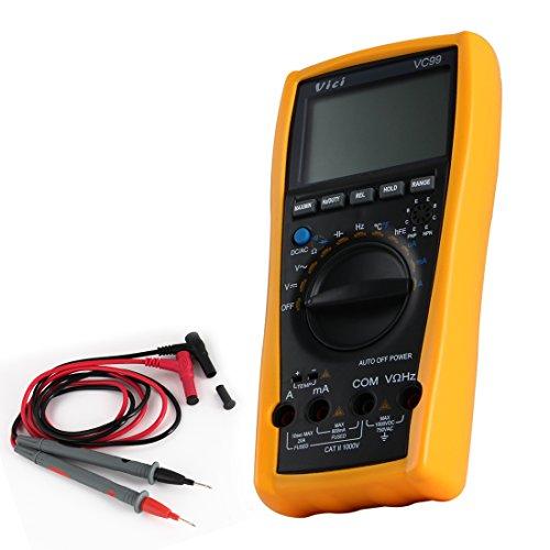 Pathson VC99 LCD Digital Multimeter Stromprüfer Multimeßgerät LCD Digital Messgerät Auto Range mit Messung von DCV ACV ACA Widerstand Kapazität Frequenz Temperatur usw
