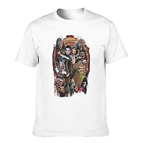Toomjie - Camiseta de algodón para hombre, diseño de película de terror de Halloween