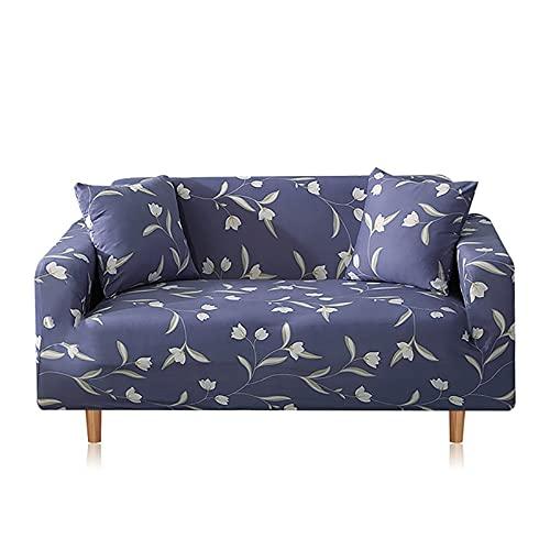 WXQY Funda de sofá elástica Estampada,Funda de sofá de Envoltura Completa Antideslizante para Sala de Estar,Funda de sofá de protección para Mascotas A4 2 plazas