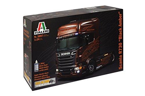 Italeri 510003897 - 1:24 Scania R730 V8 schwarze Amber