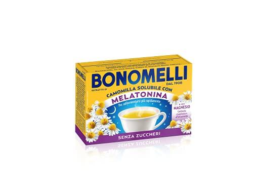 Bonomelli, Camomilla Solubile con Melatonina e Magnesio, Contrasta Stanchezza e Affaticamento, Infuso Rilassante, senza Zuccheri , 16 bustine
