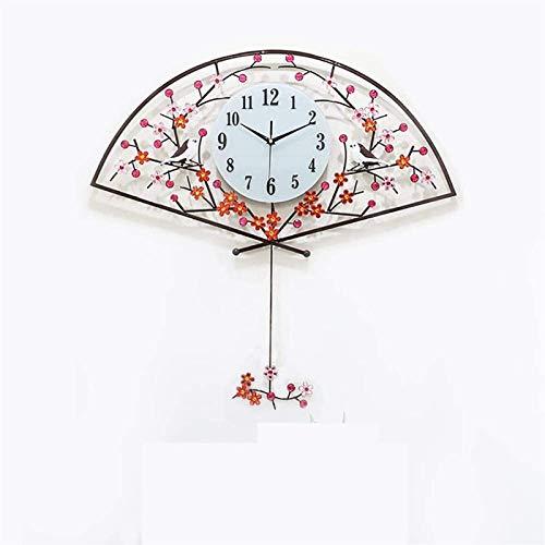 ZBJJ Muro Chino de la Pared Reloj de Pared Flores de Ciruelo Clivia Chrysanthemum Sala de Estar Casa Colgando Mesa Flores Pájaro Colgante Cuarzo Creativo Reloj de Cuarzo