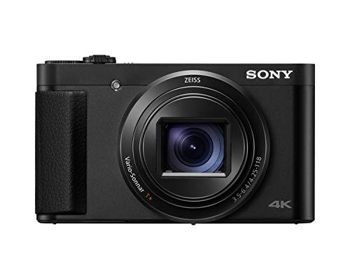 Sony DSC-HX95B - Cámara compacta de 18.2 MP (Objetivo Zoom ZEISS 24-720 mm, vídeos 4K, rápido Enfoque automático y Eye AF, Visor OLED, Pantalla táctil con inclinación de 180º) Color Negro