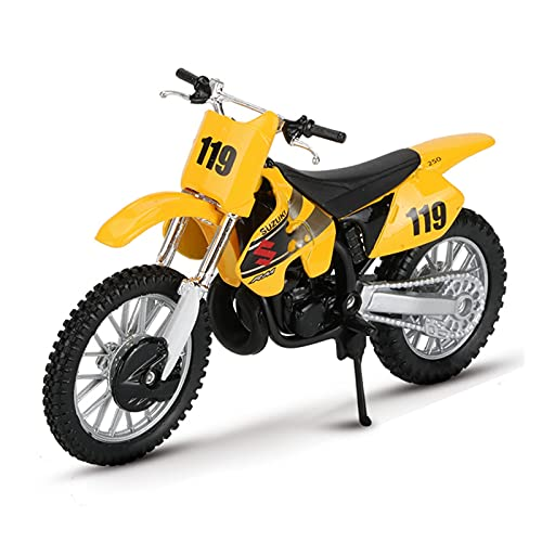 El Maquetas Coche Motocross Fantastico 1:18 para Suzuki RM-250 Simulación Aleación Montaña Modelo Motocicleta A Campo Traviesa Colección Adornos Regalo Coche Juguete Regalos Juegos Mas Vendidos