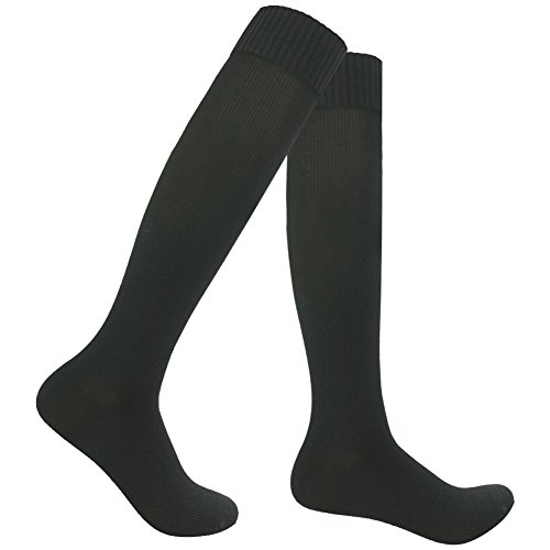 Waterproof Skiing Socks, RANDY SUN Men's Father's Quality Knee High Breathable Socks Best For Hiking/Fishing Black 1 Pair S