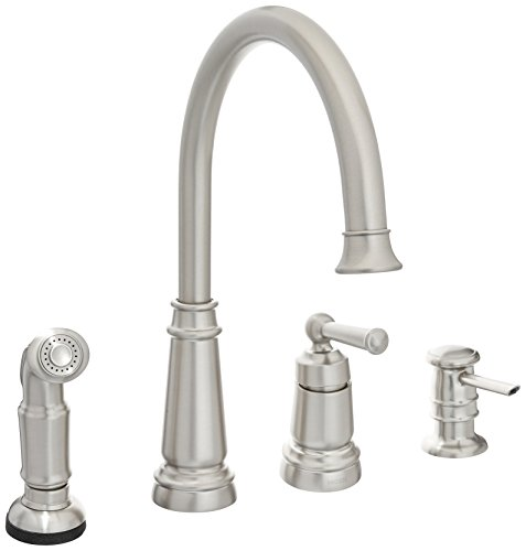 Moen 87042SRS One-Handle High Arc Kitchen Faucet, Spot Resist Stainless