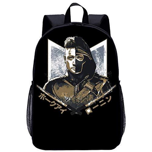 BATEKERYAS Avengers-End Game Schwarzer Rucksack, Große Schultasche Mit Eingebautem Fach, Für Schule, Einkaufen, Reisen