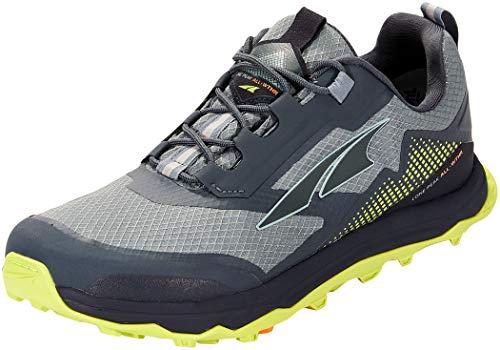 ALTRA Men's AL0A4VQG Lone Peak All-WTHR Low Trail Running Shoe, Gray/Lime - 11 M US