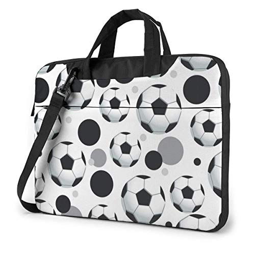 Football Laptop Sleeve Case 14 Inch Computer Tote Bag Shoulder Messenger Briefcase for Business Travel