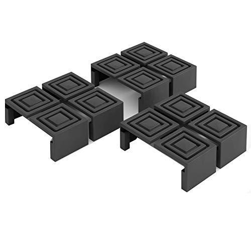 Deuba 12 TLG. Bodenschoner Satz für Festzeltgarnitur Bierzeltgarnitur I Einfach Montage I Kunststoff Schoner Überzieher