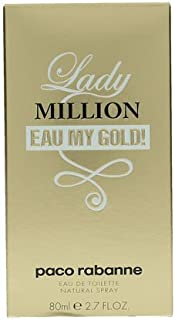 Lady Million Eau My Gold by Paco Rabanne for Women - Eau de Toilette, 80ml