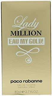 paco Rabanne Lady Million Eau My Gold Eau de Toilette Spray, 2.7 Ounce