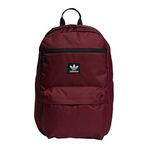 adidas Originals Unisex National Backpack, Collegiate Burgundy, ONE SIZE