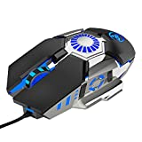 Nicoone Wired Gaming Mouse 6400DPI Ergonomic Macro Programming Mouse for PC Laptop Desktop