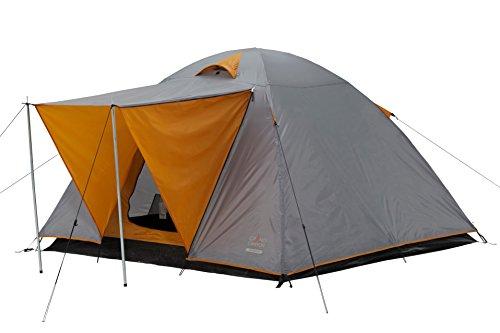 GRAND CANYON Phoenix L - tienda tipo cúpula (tienda para 4 personas), gris/naranja, 302016
