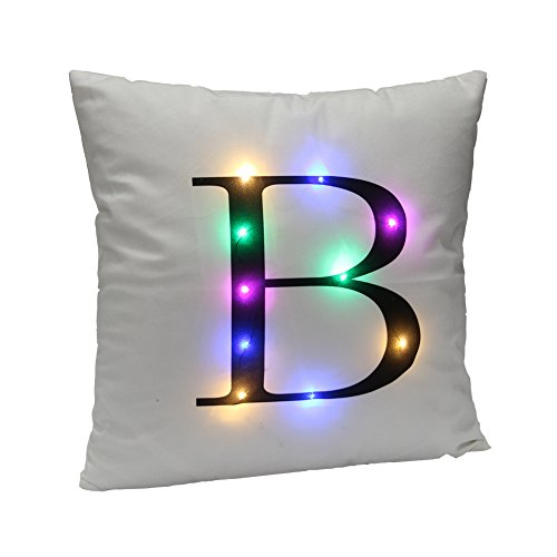 drcosy LED funda de almohada Funda de almohada–Fundas de cojín de Navidad con luces LED parpadeante colorido Festival de Navidad decoración para el hogar regalo
