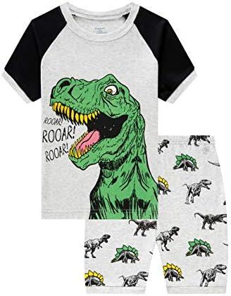 Little Boys Short Pajamas Sets for Toddler 100 Cotton Dinosaur Truck Starry Train Sleepwear product image