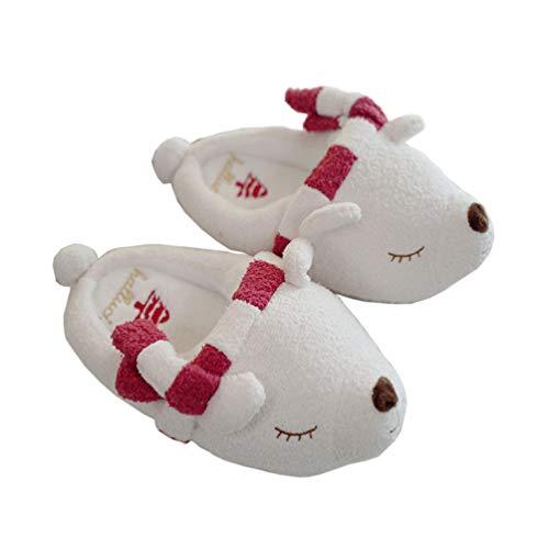 SXSHYUAR schön Süßer Plüsch Hausschuhe Eisbär, rutschfeste Heiß Winter Hausschuhe, Lustig Unisex Pantoffel Baumwolle, 38-39