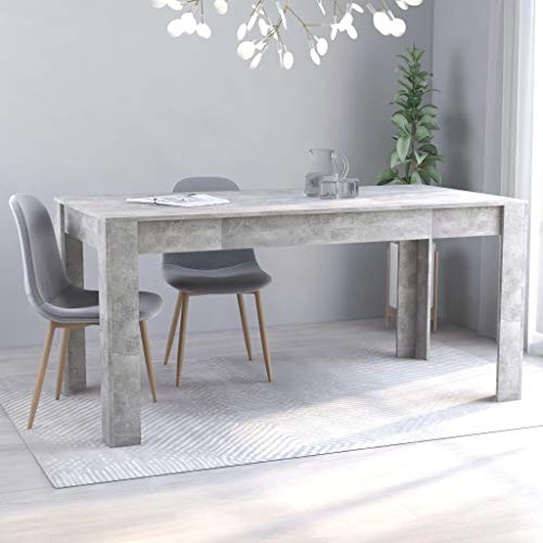 Unfade Memory Dining Table Modern Rectangular Kitchen Tables Chipboard Dinner Table (63'x31.5'x30', Concrete Gray)