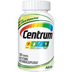 Includes 200 tablets of Centrum Adult daily multivitamin supplement for men and women Backed by over 35 years of nutritional science, Centrum is the most complete multivitamin, with Centrum's highest levels of Vitamin D3 Age adjusted for adults under...