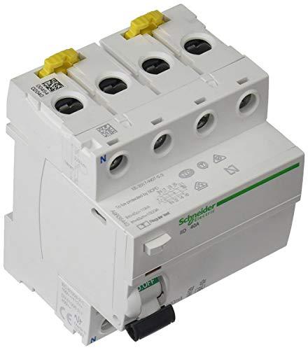 Schneider Electric A9R35440 iID Interruptor Diferencial, Clase A SI, 4P, 40A, 300mA, 73.5mm x...