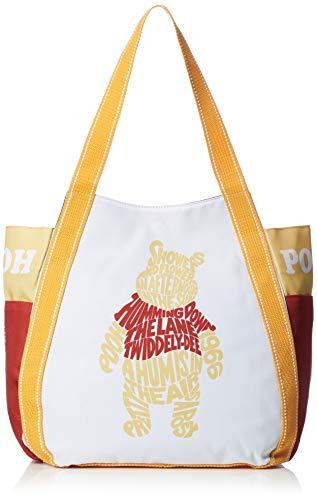 [ディズニー] トートバッグ ミッキー ミニー 大容量 バルーントート A3サイズ DPMI-1003 レディース ホワイト&レッド