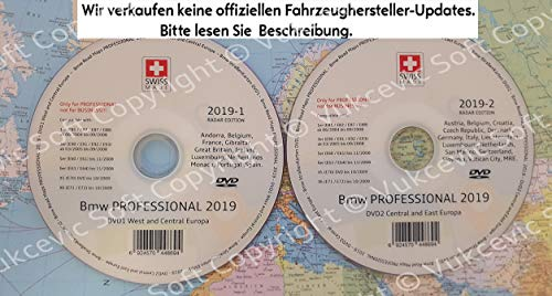 2019 B M W Professional CCC Update DVD1 + DVD2 Blitzer Edition