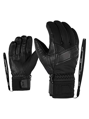Ziener Herren Ski-Handschuhe / Wintersport, Warm, Atmungsaktiv, Primaloft, Soft-Shell Gliss GTX INF PR, Black, 9,5, 801055