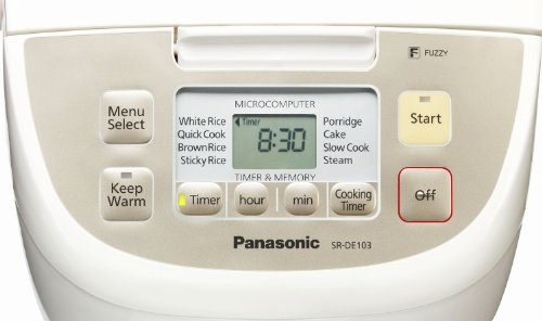 Panasonic SR-DE103 Fuzzy Logic 8 Pre-Programs