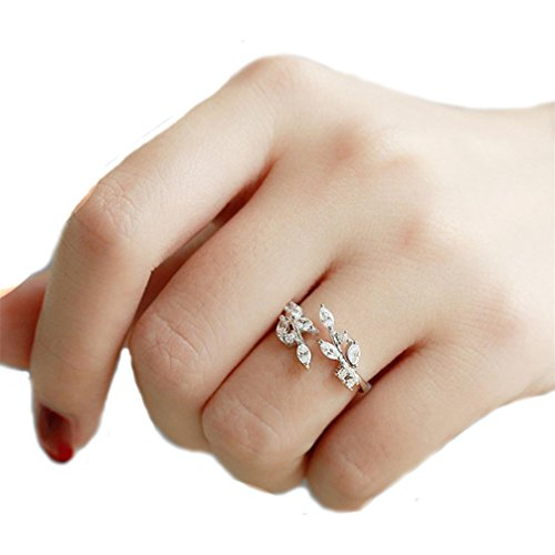 Toporchid Damen Ringe Fingerring Schmuck Blume Design offene verstellbare Hochzeit Ringe